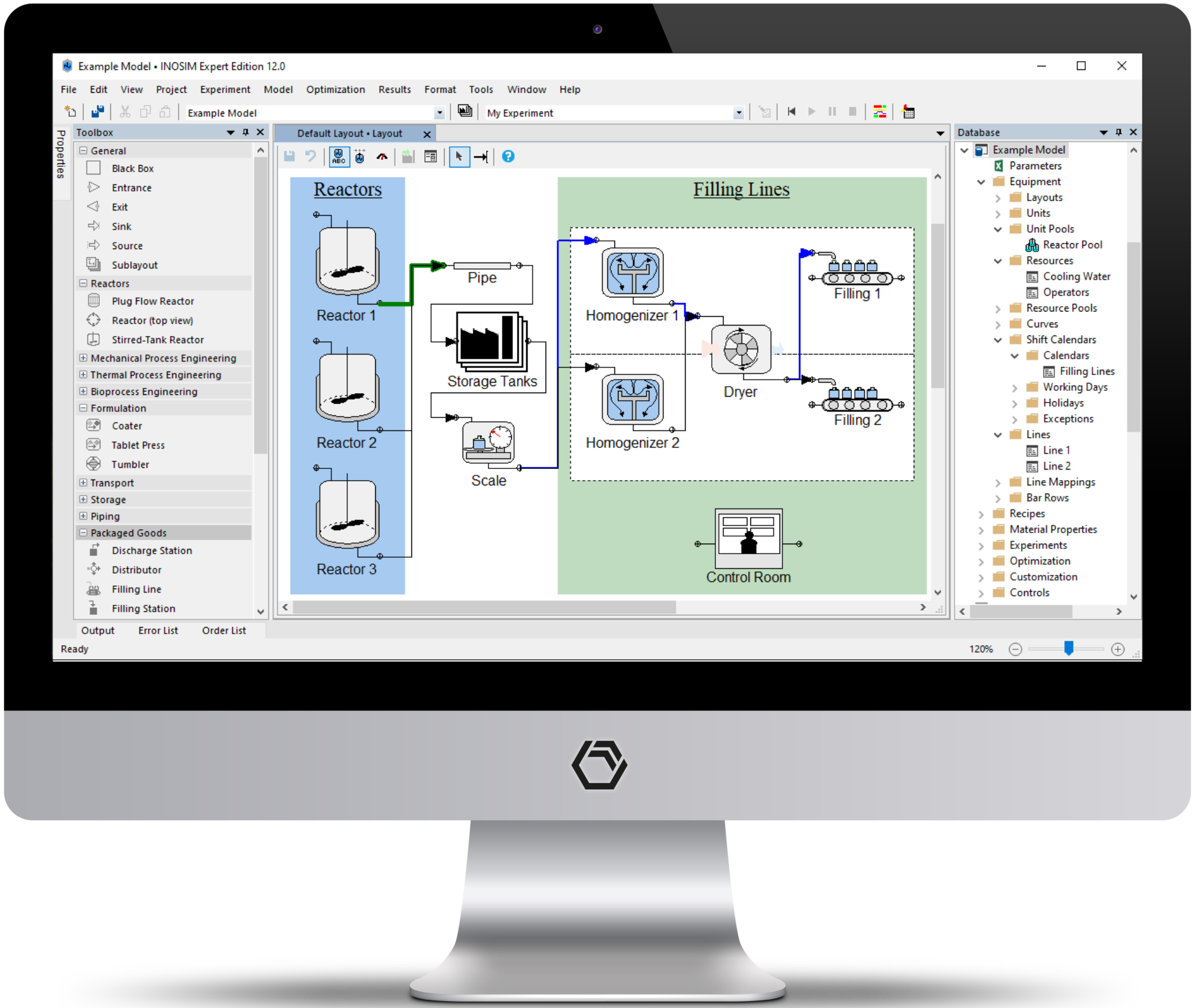 INOSIM offers a variaty of modelling elements to build a true digital twin of your process