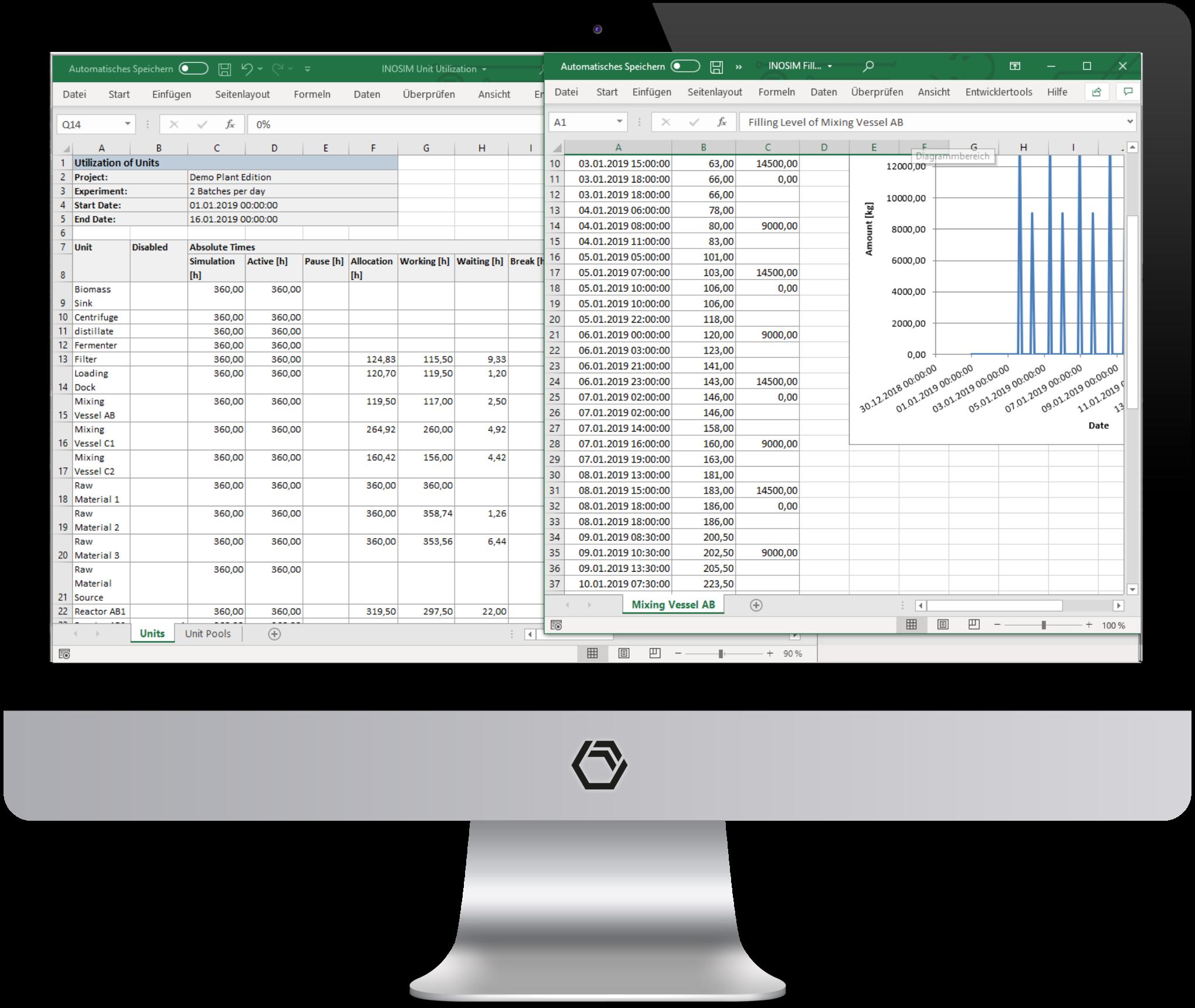 INOSIM creates result workbooks automatically