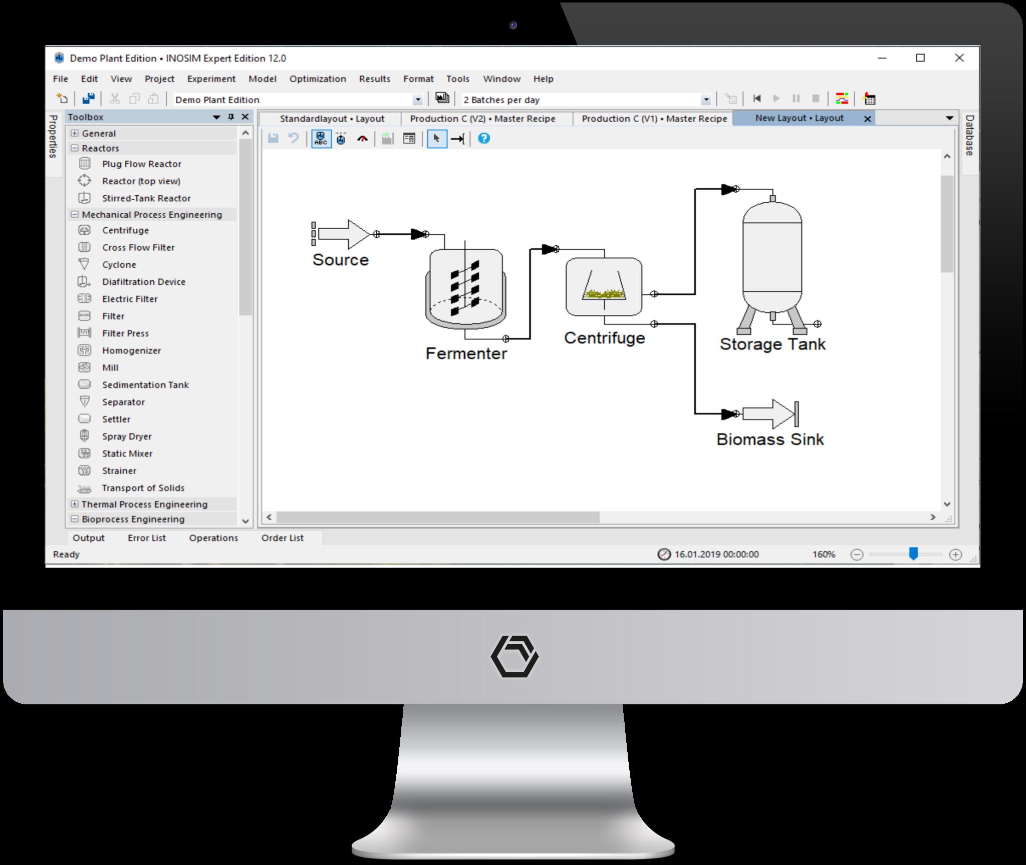 INOSIM User Interface to build digital twins and virtual plants easily