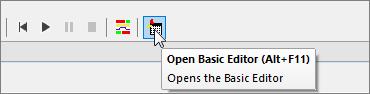 Screenshot: Open Basic Editor in INOSIM